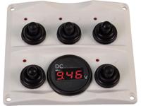 Schakelpaneel met voltmeter