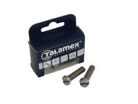 Talamex Bouten en Moeren: RVS Bout Cylinderkop met zaagsnede DIN 84