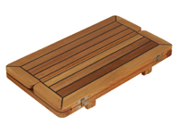Teak Tabletop Wing Caulked