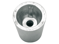 Shaft anode zinc conical