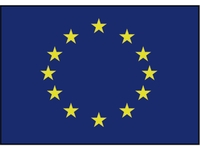 European flag (blue with yellow stars)