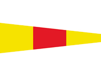 Signal flags numbers size 25 x 88cm