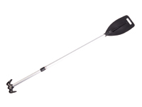 Telescopic paddle with boat hook