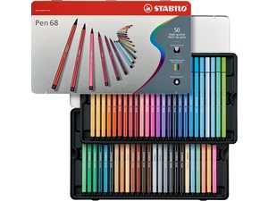 Stabilo viltstiften pen 68 assortiments dozen