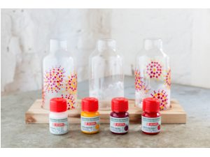 Art creation glas en porseleinverf transparant