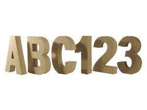 Cijfers en letters 15 cm hoog