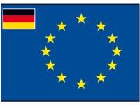 Raad van Europa vlag met afb.: kleine vlag van Duitsland