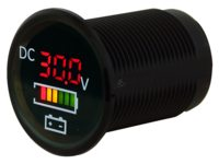 Digital Voltmeter with Battery indicator