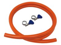 Gas hose with stainless steel hose clamps
