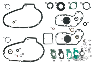 GASKETS, O-RINGS & SEALS FOR IRONHEAD SPORTSTER 1972 THRU 1985