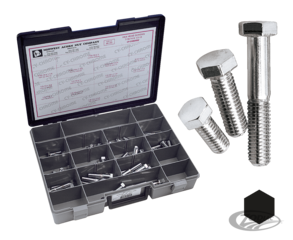 CHROME PLATED UNC HEX HEAD CAPSCREWS ASSORTMENT