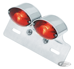 UNIVERSAL DUAL MINI CAT EYE TAILLIGHT WITH LICENSE BRACKET