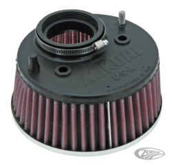 K&N HIGH CAPACITY AIR FILTER FOR MIKUNI HSR CARBURETORS