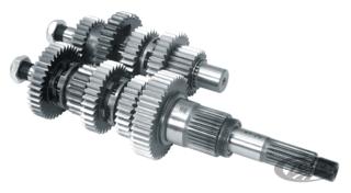 ZODIAC'S 5 SPEED BIG TWIN TRANSMISSION GEARS, MAIN SHAFTS AND COUNTER SHAFTS
