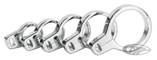 CHROME PLATED BILLET ALUMINUM DUAL CABLE CLAMPS