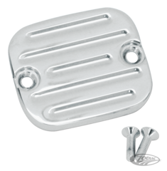 CHROME GROOVED MASTER CYLINDER COVER 1996 STYLE