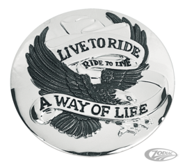 LIVE TO RIDE GAS CAP COVER