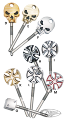 PISTOR'S STAINLESS STEEL IDLE ADJUSTER SCREWS FOR MIKUNI HSR SERIES CARBURETORS
