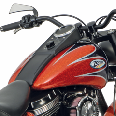 CUSTOM STYLE TANKS WITH DASH MOUNT FOR SOFTAIL TWIN CAM MODELS