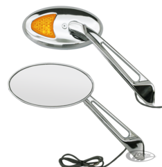 SPORT OVAL MIRRORS WITH LED TURN SIGNALS
