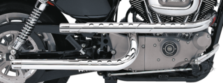 "PAUL YAFFE'S ""X-PIPES"" DRAG PIPES BY SUPERTRAPP FOR SPORTSTER"
