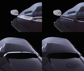 CIRO WINDSHIELD TRIMS FOR ROAD GLIDE