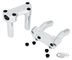 CHROME HANDLEBAR RISER AND CLAMP SETS