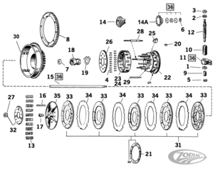 CLUTCH PARTS FOR 1936-1984 MODELS