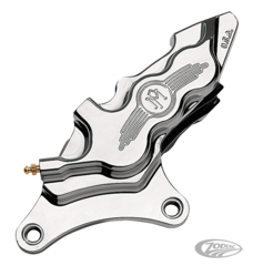 PERFORMANCE MACHINE 6 PISTON FRONT CALIPERS WITH DIFFERENTIAL BORE FOR 1984 TO PRESENT MODELS