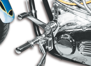CHROME FORWARD CONTROL KITS WITH MASTER CYLINDER FOR BIG TWINS
