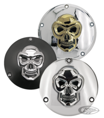 SKULLED ALUMINUM DERBY COVERS