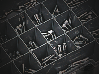 CHROME PLATED 12 POINT BOLT ASSORTMENT TRAY