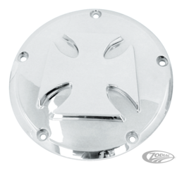 CHROME PLATED ALUMINUM MALTESE CROSS DERBY COVER