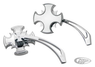 CROSS BLADE MIRROR SET WITH CUT-OUT ARM