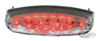 EU APPROVED UNIVERSAL LED CLEAR LENS TAILLIGHT