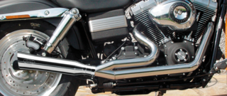 BSL STAINLESS STEEL 2 INTO 1 EXHAUSTS FOR DYNA'S