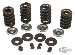 V-THUNDER VALVE SPRING SETS, VALVE SPRING RETAINERS, COTTER KEYS AND VALVE SPRING WASHERS