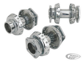 CHROME SPOOL STYLE WHEEL HUBS FOR 2000 TO PRESENT MODELS