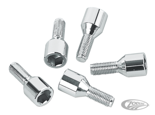 CHROME WHEEL SOCKET SCREWS
