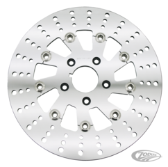 DRILLED POLISHED STAINLESS STEEL FULLFLOATING DISC ROTORS