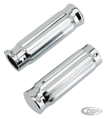 CHROME ALUMINUM BARREL STYLE GRIPS