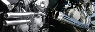 KEN'S FACTORY DOUBLE BARREL EXHAUST FOR SOFTAIL