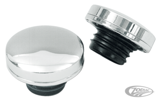 CHROME LATE STYLE SCREW-IN GAS CAPS