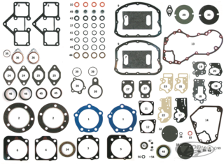 INDIVIDUAL GASKETS, O-RINGS AND SEALS FOR 1948 THRU 1965 PANHEAD AND 1966 THRU 1984 SHOVELHEAD