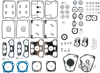 INDIVIDUAL GASKETS, O-RINGS AND SEALS FOR 1984 THRU 1999 EVOLUTION BIG TWIN