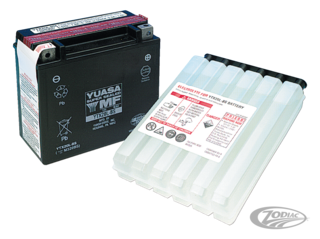 "YUASA ""V-FORCE"" HIGH OUTPUT MAINTENANCE FREE BATTERIES"