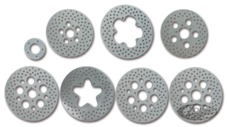 POLISHED AND DRILLED STAINLESS STEEL DISC BRAKE ROTORS