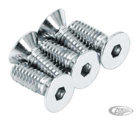 CHROME PLATED DISC BRAKE ROTOR BOLTS & SCREWS