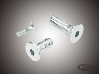 CHROME PLATED COUNTER SUNK FLAT HEAD SOCKET SCREWS
