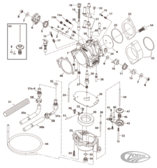 S&S SUPER E & SUPER G CARBURETOR PARTS